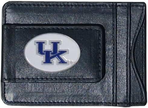 Kentucky Wildcats Fine Leather Money Clip - Black