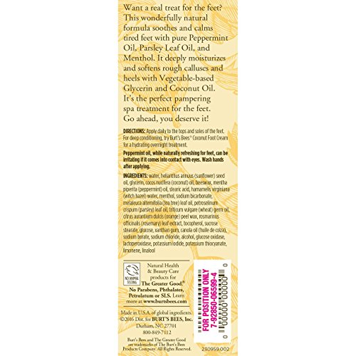 Burt's Bees Peppermint Foot Lotion - 3.38 Ounce Tube (Pack of 3) by Burt's Bees (Image #1)