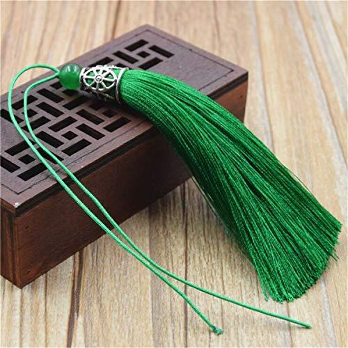 (10pcs 9cm Handmade Artificial Silk Tassels Trims Key Ring Jewelry Cloth Decor (Colors -)
