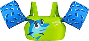 Gogokids Toddler Life Jacket, Children Swimming Pool Float with Arm Wings, Kids Swim Vest with Shoulder Harness for 30-50 lbs Infant/Baby/Toddler