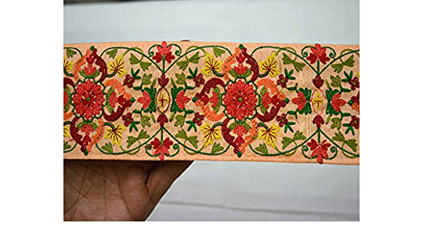This Is 9 Yard Peach Color Gotta Ribbon Lace Trim  For Crafting,Sewing With Beautiful Design Used In Different Artifacts