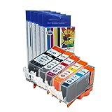 Cool Toner Compatible Ink Cartridge Replacement for Canon PGI-225/CLI-226 (PGI225BK, CLI226BK, C, M, Y, 5-Pack)