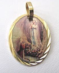 Blessed By Pope Francis Our Lady of Lourdes Medal