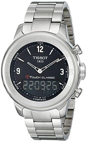 Tissot Men's T0834201105700 T-Touch Classic Analog-Digital Display Swiss Quartz Silver Watch
