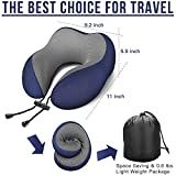 MLVOC Travel Pillow 100% Pure Memory Foam Neck