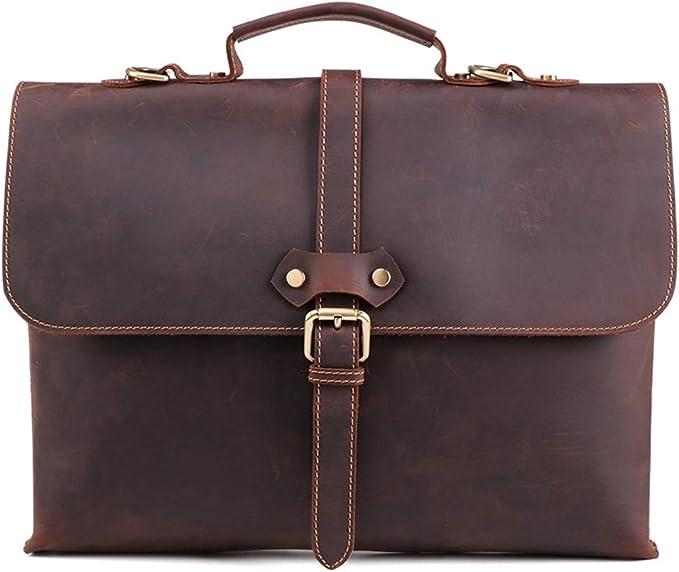 Large Capacity Multi Pocket Handbag Water Resistant Laptop Work Office Bag Black LIXUAN Mens Computer Shoulder Bag Leather Business Briefcase