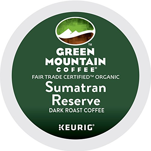 Unripened Mountain Coffee Sumatran Reserve Keurig Single-Serve K-Cup Pods, Dark Roast Coffee, 72 Count (6 Boxes of 12 Pods)