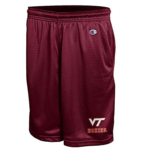 Elite Fan Shop Virginia Tech Hokies Mesh Shorts - L -