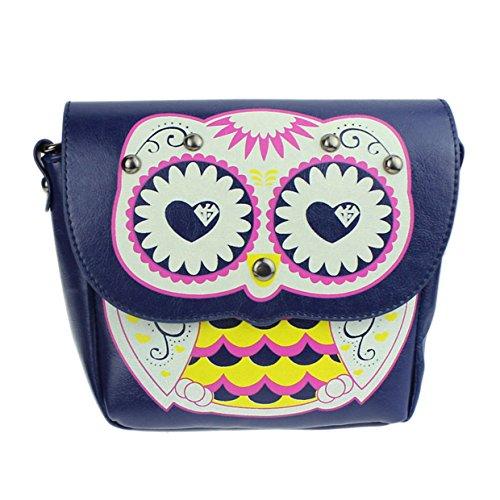 doble 2018 Bolsos playa Bolso totes Bolsos fiesta print con Mujer verano bolsos para Bolsa mujer Owl EUzeo Mini Azul Hombro para bolso mensajero Cremallera de baratos mujer de PHPqwBFr