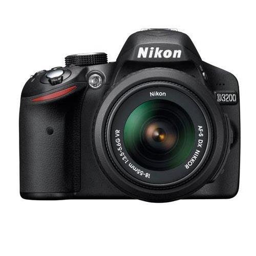 Nikon D3200 Digital SLR Camera with 18-55mm NIKKOR VR Lens - Black - Refurbished by NIKON USA