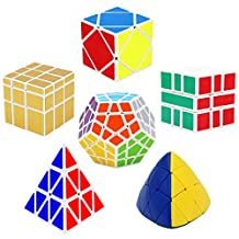 6 Pack Rubik's Cube Set,Magic Speed Rubiks Cube Puzzle,Brain Teasers Game for Teens Kids and Adults