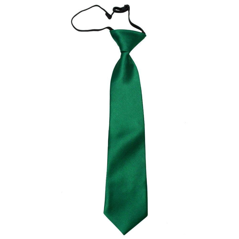 Neu DQT Ebene Satin Elegante Klassische Jungen Hochzeit Vorgebundene Elastisch Krawatte 2-7 Jahre alt - Verschiedene Farben
