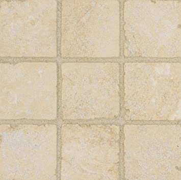 Arizona Tile 4 by 4-Inch Tumbled Travertine Tile, Ankara, 5-Total ...