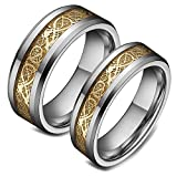 Best Steel Rings For Couples - His & Her's 8mm/6mm Tungsten Carbide Celtic Knot Review
