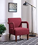 IDS Online MLM-18749-R Simplicity Style Living Room Single Sofa, 26.5'' x 23.5'' x 30.5'', Red