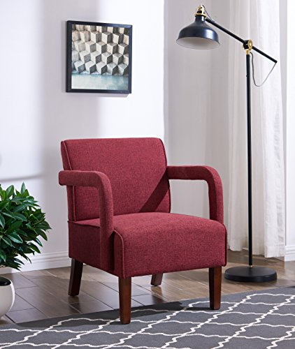 IDS Online MLM-18749-R Simplicity Style Living Room Single Sofa, Red, 26.5
