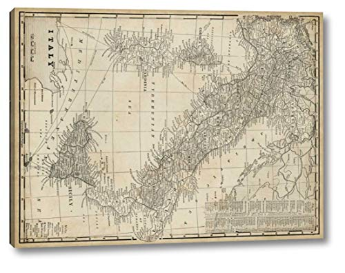 (Antique Map of Italy by Vision Studio - 8
