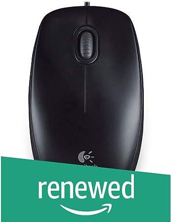Renewed  Logitech M100r Wired USB Mouse  Black  Mice