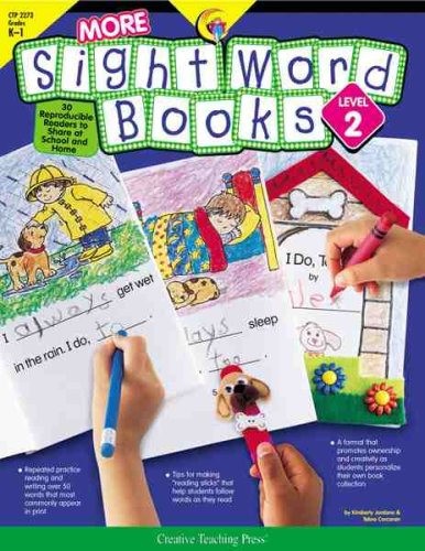 More Sight Word Books  LEVEL 2   Grades K-1  : 30 Reproducible Readers to Share at School and Home