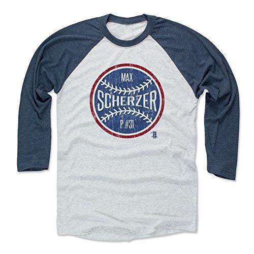 e6b5d51f4 500 LEVEL Max Scherzer Baseball Tee Shirt Large Indigo Ash - Washington  Baseball Raglan Shirt