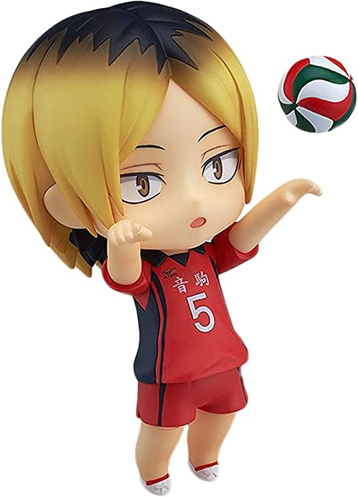 Haikyuu !!Kozume Kenma Q-Version Nendoroid Action Figure Collection with Replaceable Accessories Statue Animation Character Model Decoration Gift