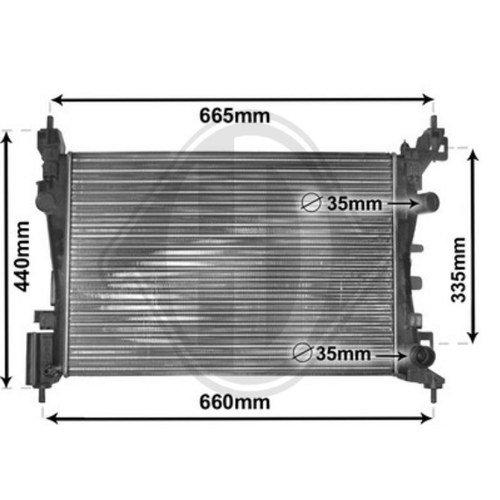 Diederichs DCM2671 Radiator, radiator: