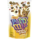 Cheap Crunchy Party Mix Pouch Cat Treats, Cheesy Craze Crunch, 2.1 Ounce, 10 Count