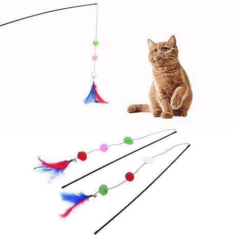 Yanhonin - Juguetes para Gatitos, diseño de Bola de Plumas y Gatitos