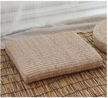 YOOMAT 40x10cm Round Straw Weave Handmade Pillow Floor Yoga ...