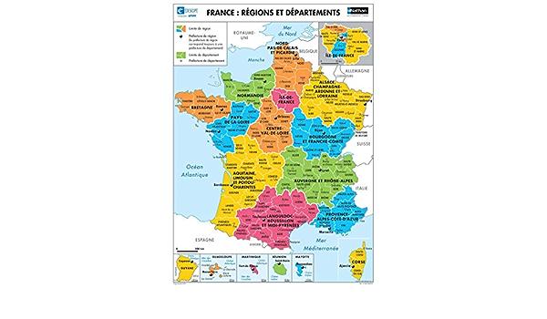 La France : Relief / Régions et départements (Cartes murales géographie)  (French Edition): Mathieu, Jean-Louis: 3133090526734: Amazon.com: BooksAmazon