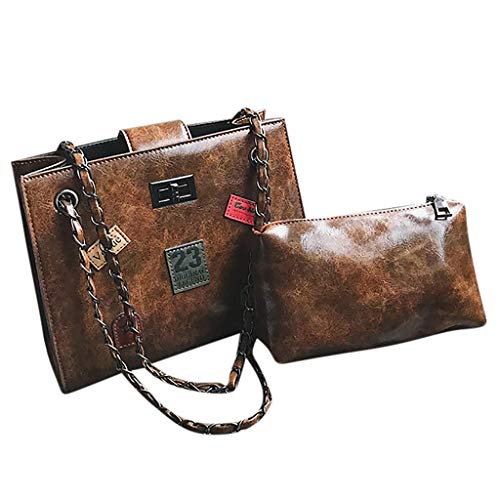 ini Crossbody Handbag, Multi Zipper, Pu Leather, Small Shoulder Purse Adjustable Strap(Brown) ()
