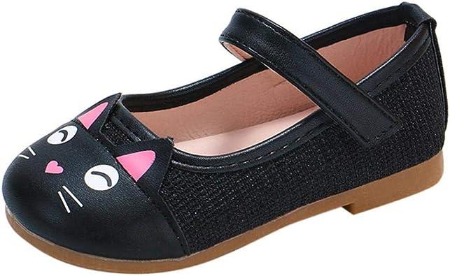 Zapatos de Cuero para Niñas Otoño Invierno 2018 Moda PAOLIAN Zapatos de Vestir para bebé Niñas Primeros Pasos Calzado recién Nacidos Bautizo Fiesta Gato Antideslizante 3 Meses -6 años: Amazon.es: Zapatos y complementos