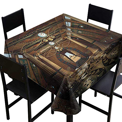 Pillar Resistant Table Cover Interior Temple 3D Syle Party Decorations Table Cover Cloth 36 x 36 Inch ()