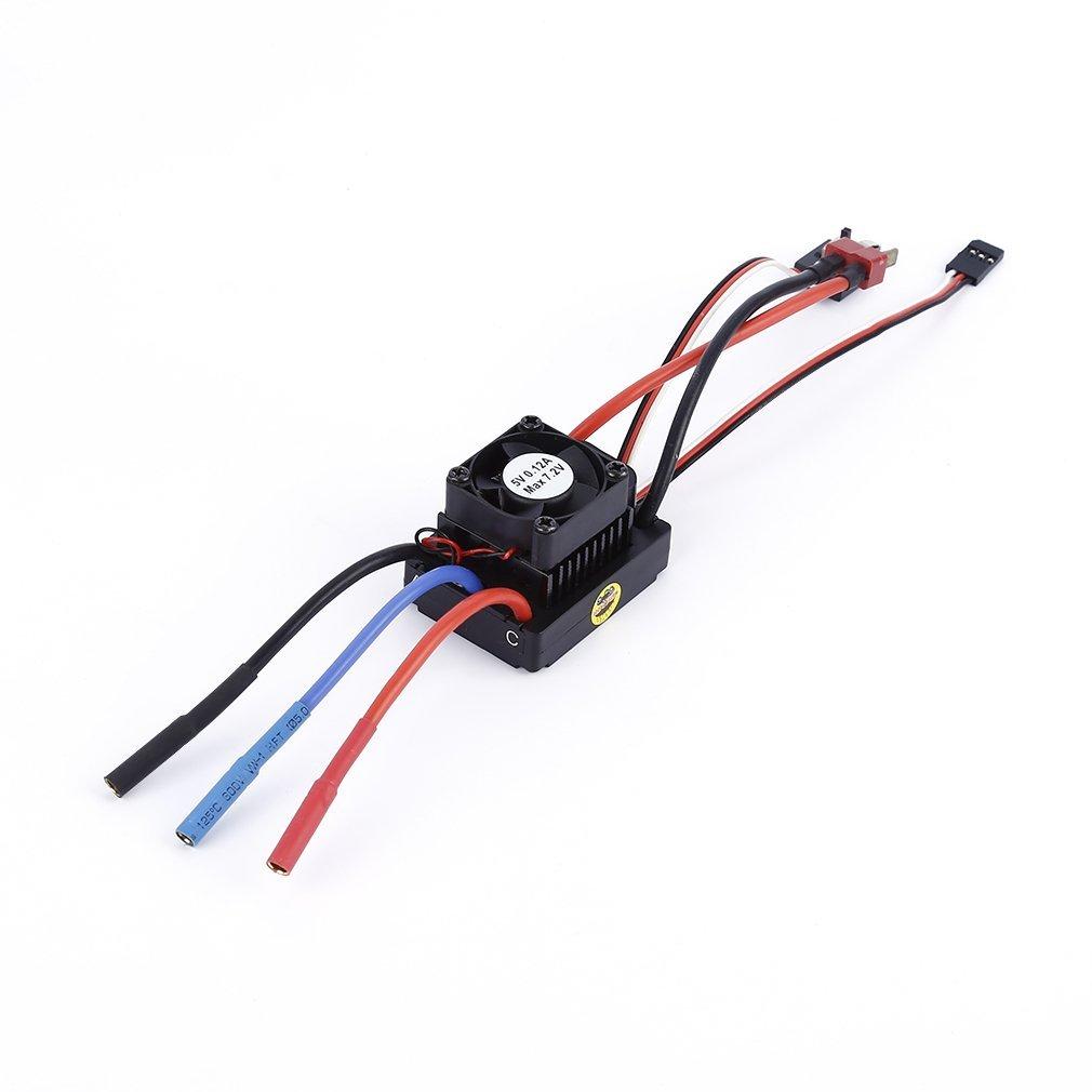 01:10 Brushless 60a Esc Commande De Vitesse électrique Avec Un Ventilateur Pour Voiture