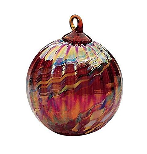 Glass Holiday Swirl Globe Ornament (Globe Glass Ornament Holidays)