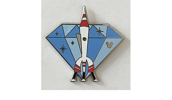 Disney Pin WDW 2015 Hidden Mickey Completer HTF Mickey Astronaut Space Rocket