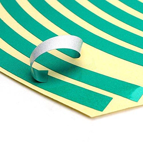 SKS distribuzione/® 16/pezzi blu strisce ruota adesivi e decalcomanie 14/pollici nastro riflettente Rim Tape moto auto car styling