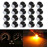 cciyu 20 Pack Yellow T5/T4.7 Neo Wedge 3 LED A/C Climate Control Light Bulbs New 8mm For 2001-2005 Honda Civic