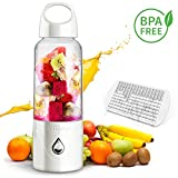 ASKITO Personal Blender Portable Blender for Shakes and Smoothies Small Single Serve Blender USB Rechargeable Juicer Cup Fruit Mixer with Ice Tray (White)