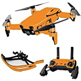 MightySkins Skin For DJI Max Coverage - Solid Orange   Protective, Durable, and Unique Vinyl Decal wrap cover   Easy To Apply, Remove, and Change Styles   Made in the USA