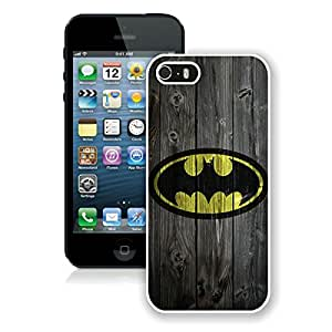 Beautiful Designed Case With Batman logo White For iPhone 5S Phone Case