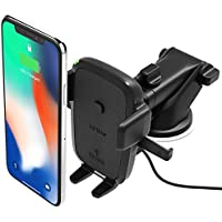 iOttie Easy One Touch Qi Wireless Fast Charge Car Mount for Samsung Galaxy S8, S7/S7 Edge, Note 8 5 & Standard Charge for iPhone X, 8/8 Plus & Qi Enabled Devices