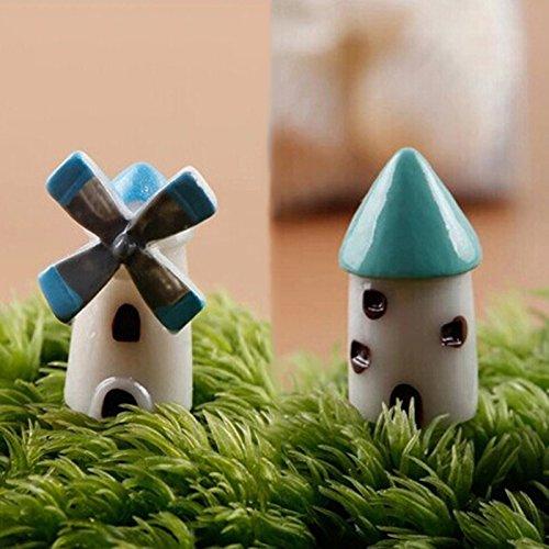 Castle Kunstharz S Cupcinu Mini-Windm/ühle House Miniatur Kirche Fairy Garden Cottage Kabine Figur Bonsai Ornaments Puppenhaus DIY Zubeh/ör Garten Home Decor