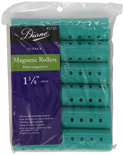 Diane Magnetic Hair Rollers, Aqua, 1 3/8 Inch