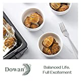 DOWAN 10 Ounces Porcelain Bowls Set, 6 Packs, Small Bowls, Ceramic White Bowls for Kitchen, Prep, Side Dishes, Cereal, Ice Cream Bowls, Microwave Safe, White