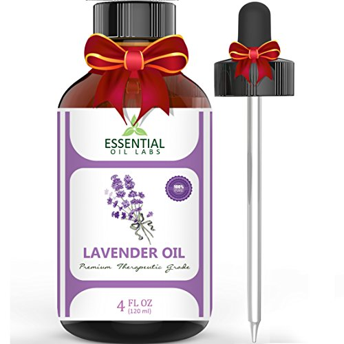 Lavender Essential Oil - Highest Quality Therapeutic Grade Backed by Research - Largest 4 Oz Bottle with Premium...