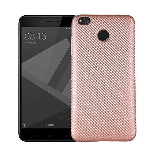 Ok Accessories Xiaomi Redmi 4X Funda, Textura cepillada TPU Caso Ultra - Delgada Carcasas de a Prueba de Golpes para Xiaomi...