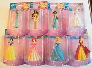 Amazon.com: Disney Princess Figurines Cake Topper : Belle ...