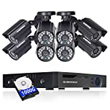DEFEWAY 8 Channel Surveillance System With 8pcs Night Vision 720P HD CCTV Security Cameras, 1TB Hard Drive Included Review