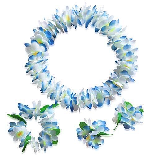 LAYSERI Hawaiian Luau Flower Wreaths Leis Jumbo Necklace
